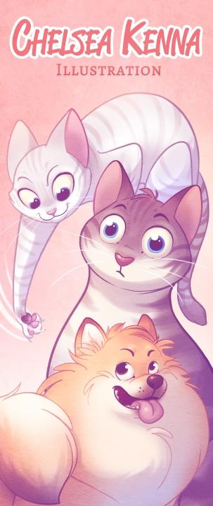 convention banner - cats, pomeranian - chelseakenna | ello