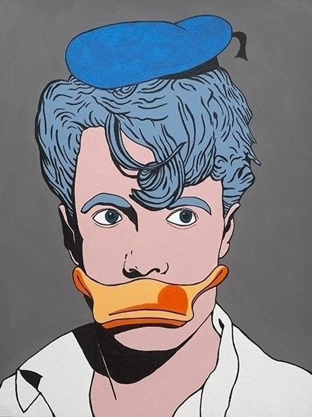 Duck-man Acryl paper 30x40cm - illustration - jordibisquert | ello