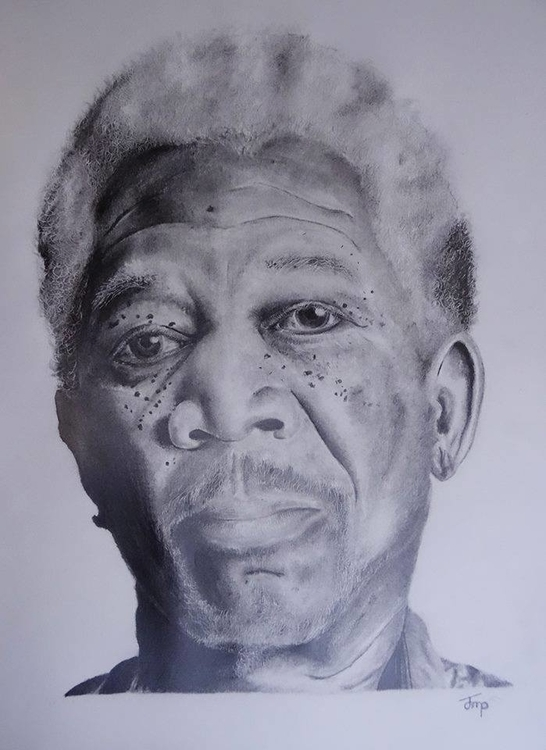 Morgan Freeman Portrait - morganfreeman - bigfloppybanana | ello