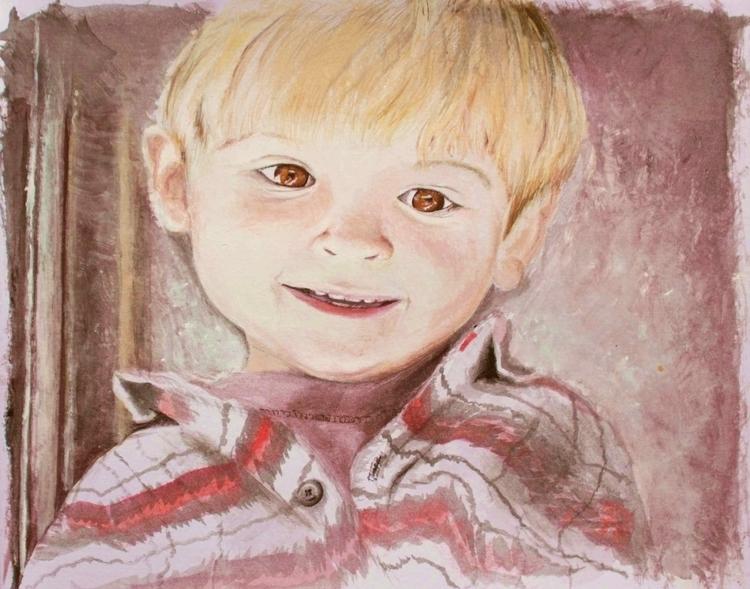 Portrait; acrylics - painting - emilygrobler | ello