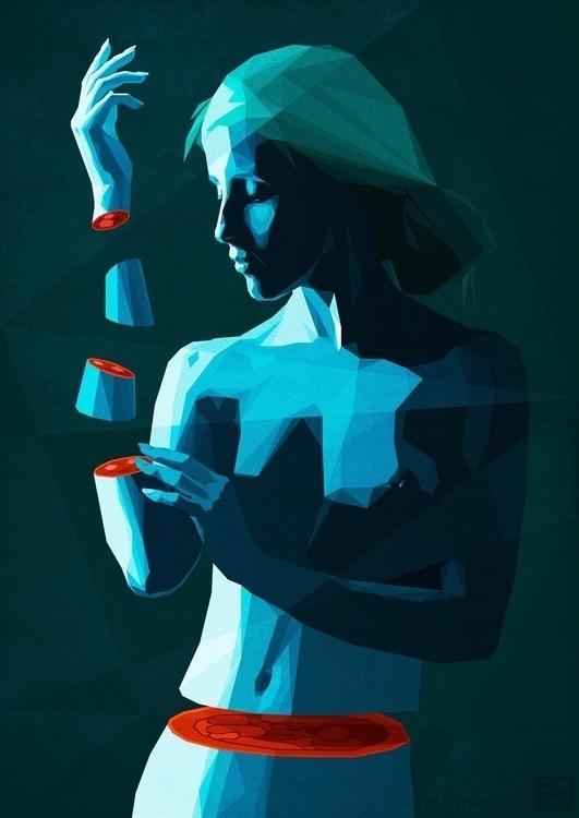 PIECES work illustration Hope - beauty - andreszen | ello