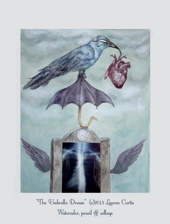 Umbrella Dream, watercolor, col - laurencurtis | ello