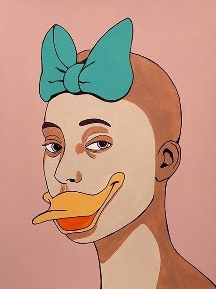 Daisy Acryl paper 30x40cm - illustration - jordibisquert | ello