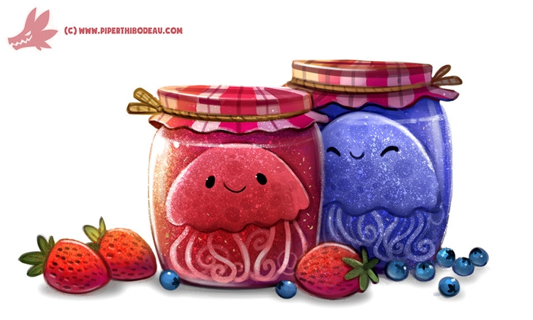 Daily Paint Jelly-Fish Add Imag - piperthibodeau | ello