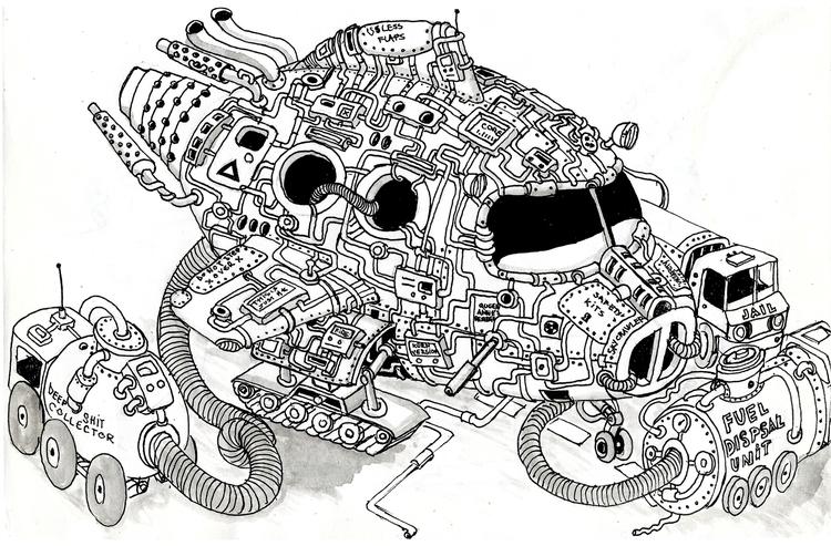 skycrawler - junk, junkism, steampunk - hueroth | ello