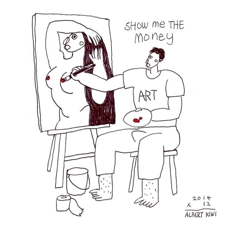 show money - illustration, art, artist - albertkiwi | ello