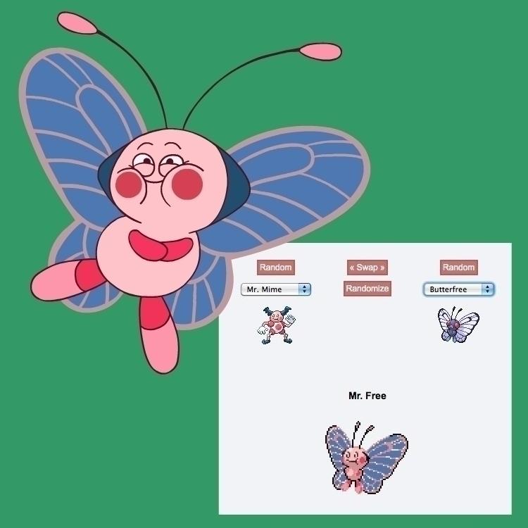 Pokemon Fusion: Mime + Butterfr - carldoonan | ello