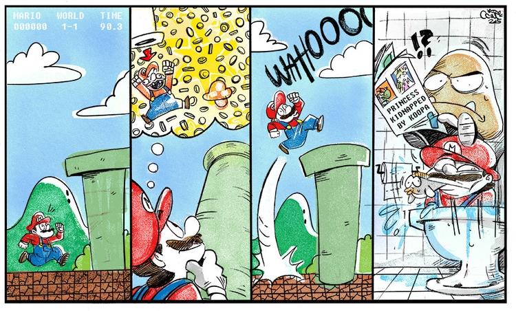 comic, drawing, commission, digitalart - curvedcat | ello