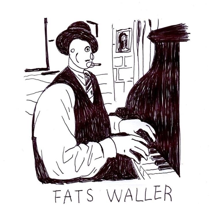 fats waller - jazz, music, illustration - albertkiwi | ello