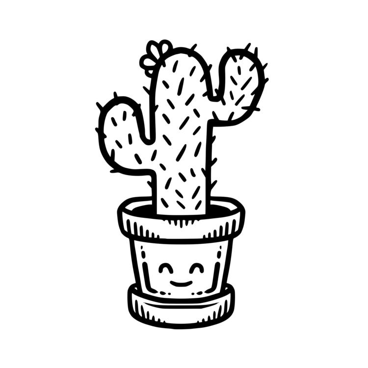 Картинки раскраски кактус