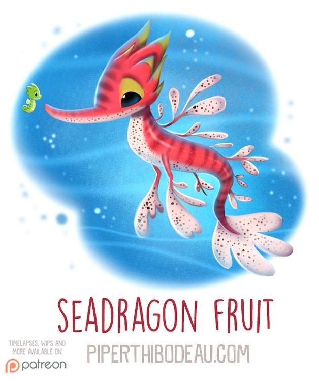 Daily Paint 1601. Seadragon Fru - piperthibodeau | ello