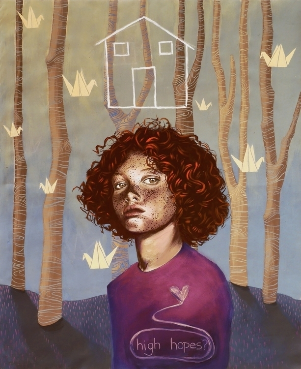 High hopes - illustration, painting - natasakonjevic | ello