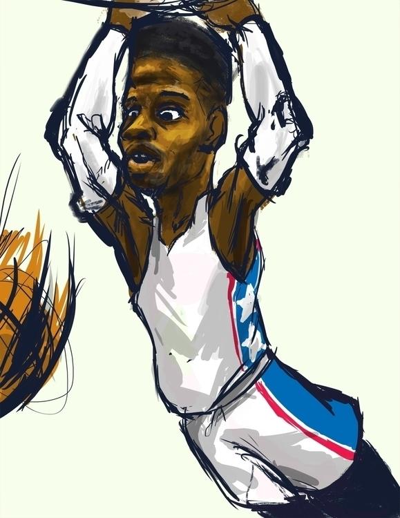 Nerlens Noel Caricature: test.  - bunnybird-1423 | ello