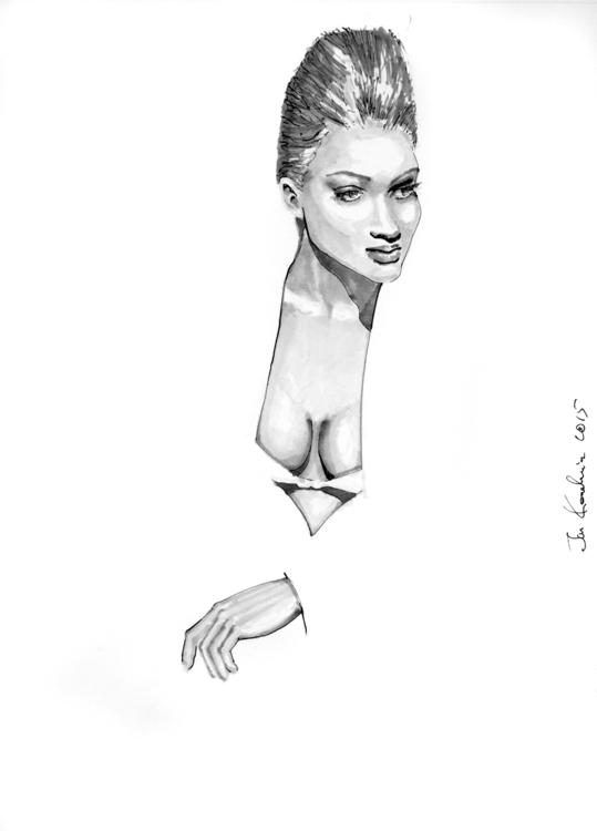 A3, Artpen + Markers - face, portrait - jandraws | ello
