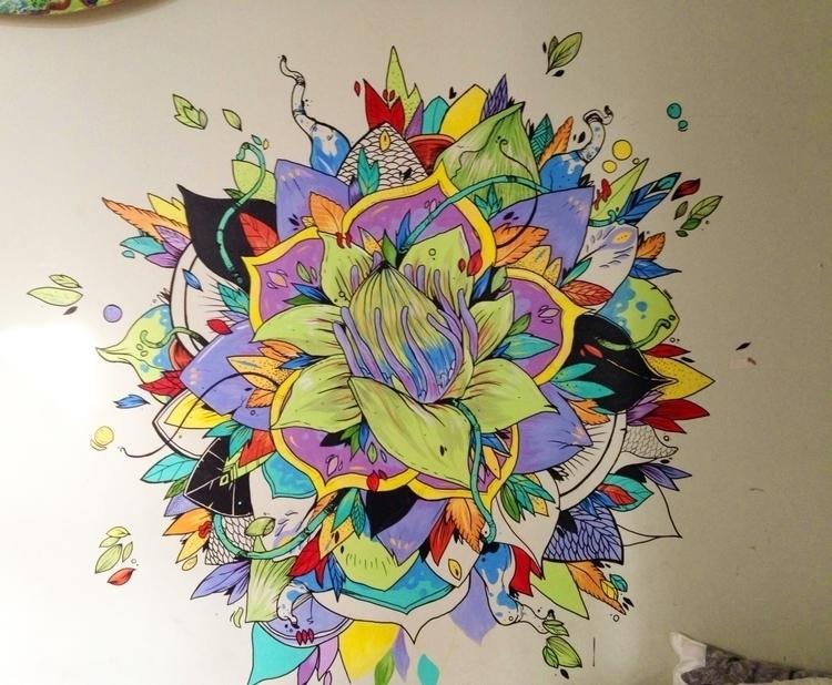 wall, decorative, mandala, flowers - fiasco-4537 | ello