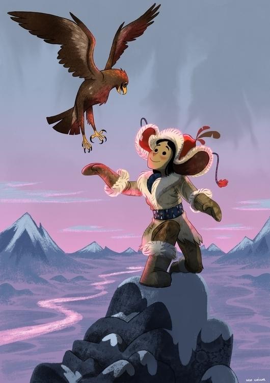 Huntress - illustration, characterdesign - hugocuellar | ello