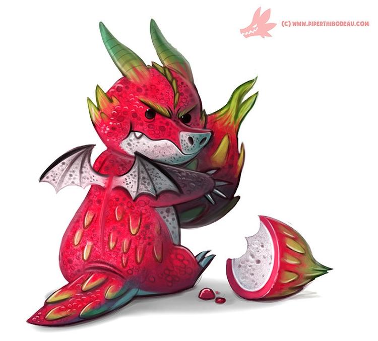 Daily Paint Dragon Fruit Keeper - piperthibodeau | ello