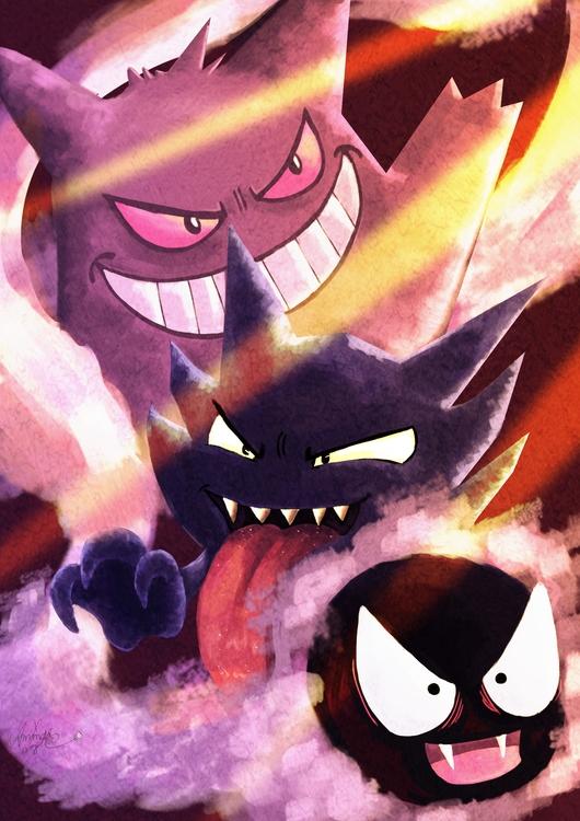 pokemon, ghost, hunter, gengar - amandaloyolla | ello