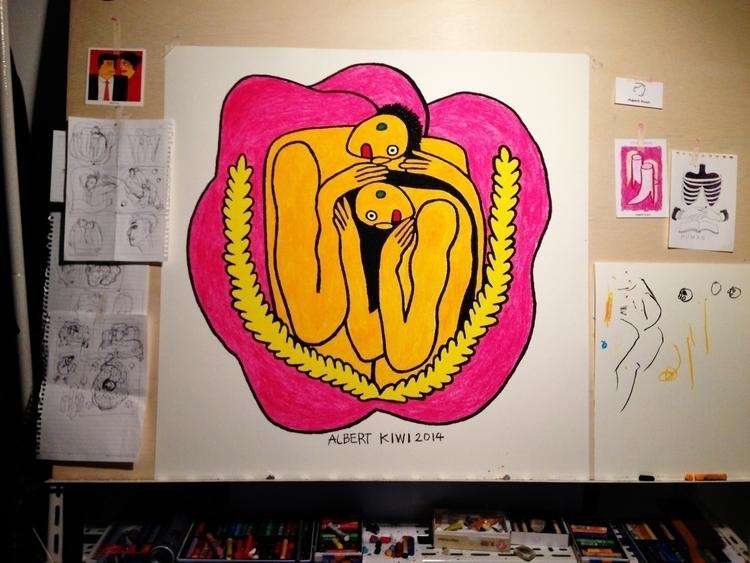 oilpastel, illustration, art - albertkiwi | ello