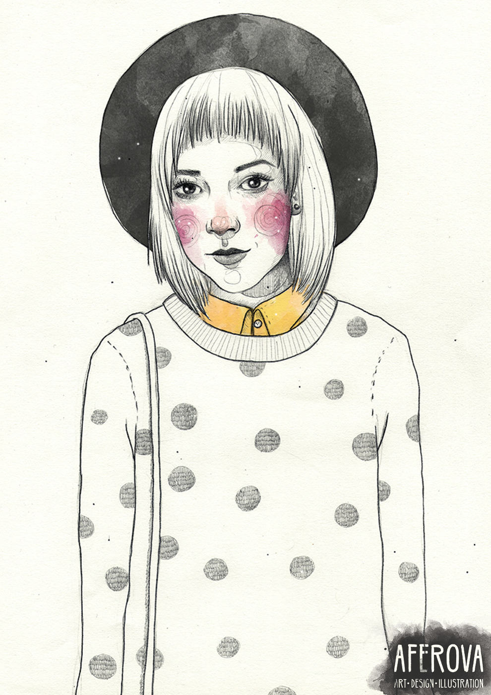 Julia - illustration, drawing, portrait - aferova   ello