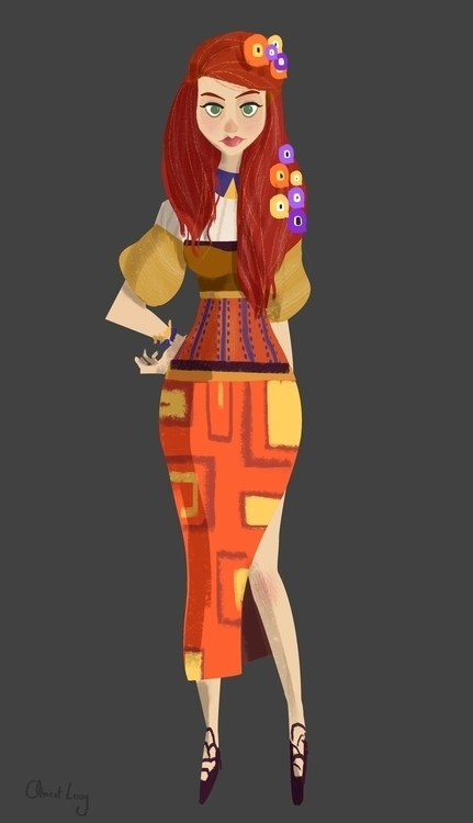 - Gustav Klimt girl - GirlsWearingArt - cleleroy | ello
