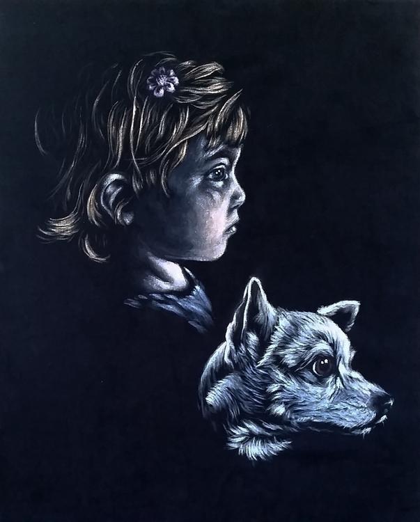 Girl pup - velvet, blackvelvet, portrait - dslebodnick | ello