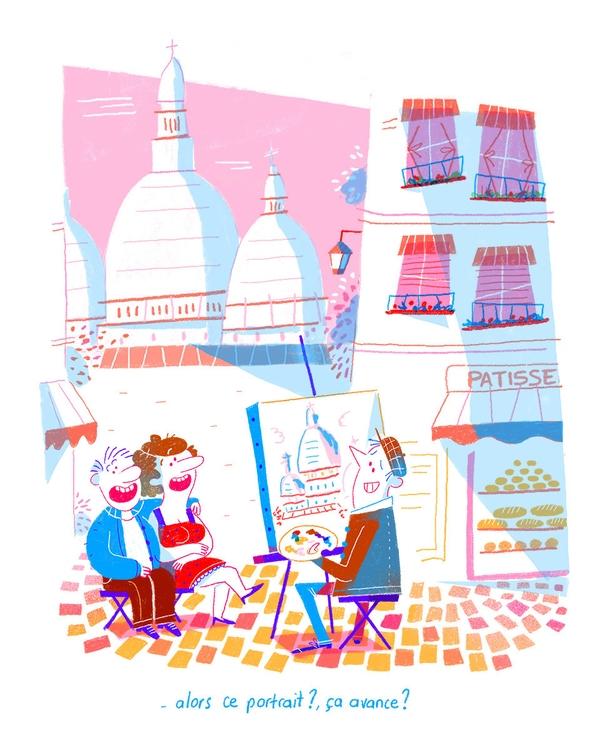 painter Montmartre - paris, montmartre - oceanem | ello
