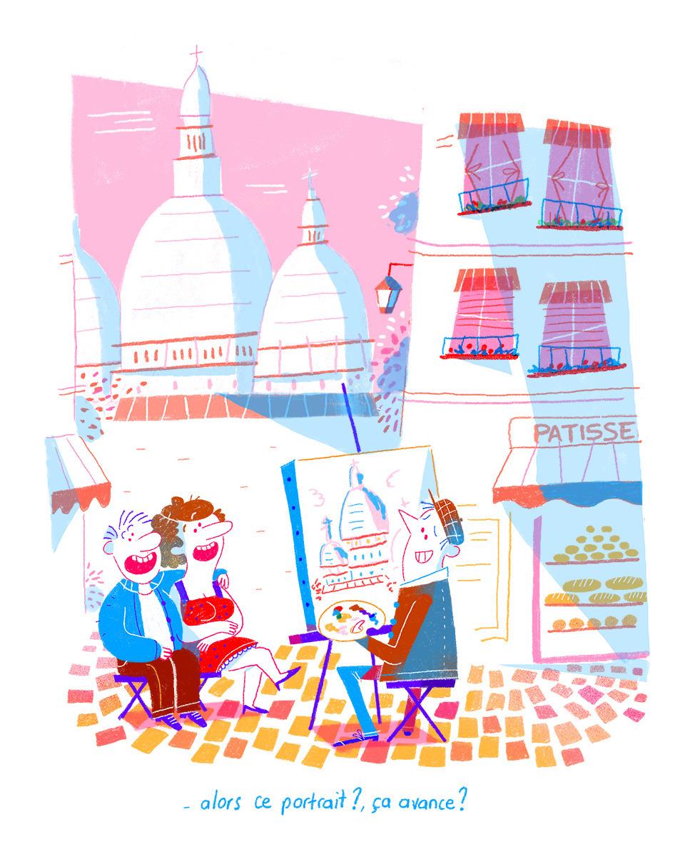 painter Montmartre - paris, montmartre - oceanem   ello