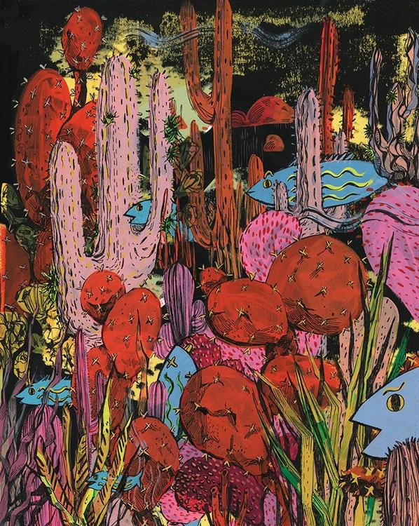 cactus, fish - diannaxu | ello