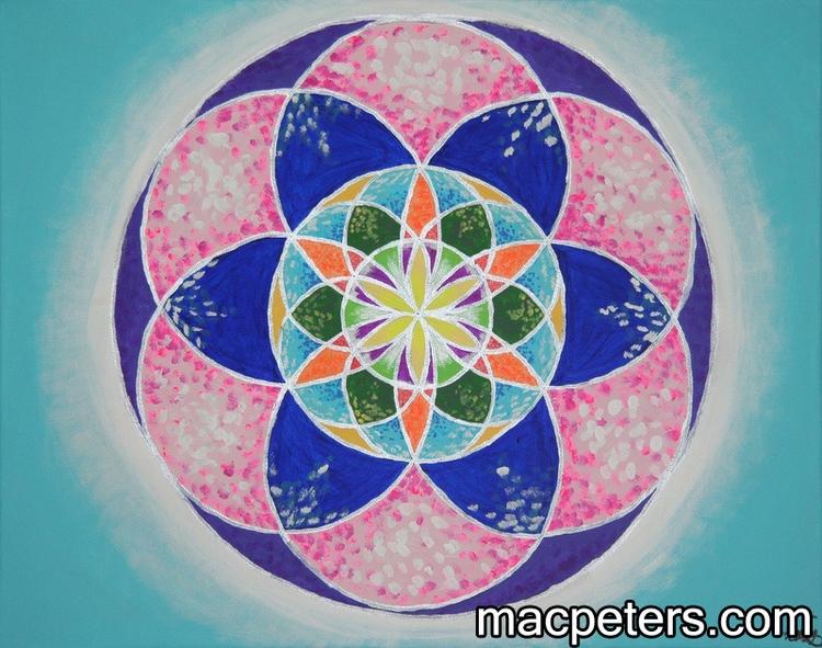 Silver Tides - sacredgeometry, mandala - macpeters | ello