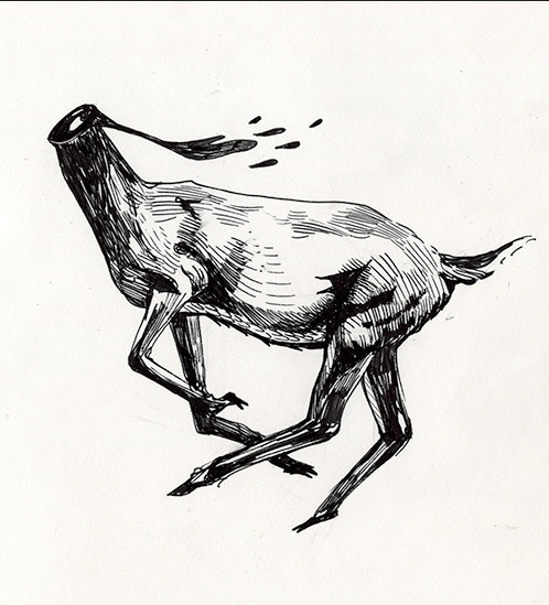 headless, deer - diannaxu | ello