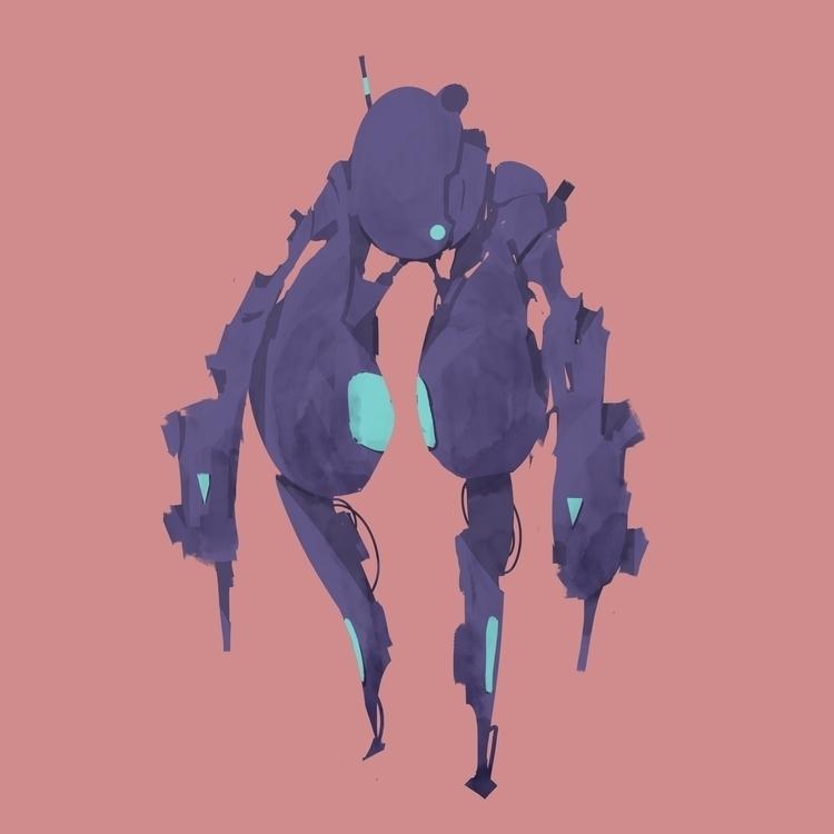 robo - sifi, design, mech, robot - causelovesky | ello