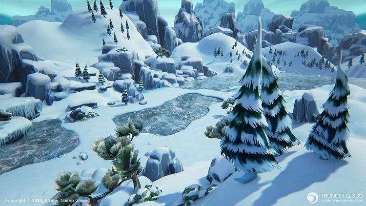 Winter map - environment level  - thundercloudstudio | ello