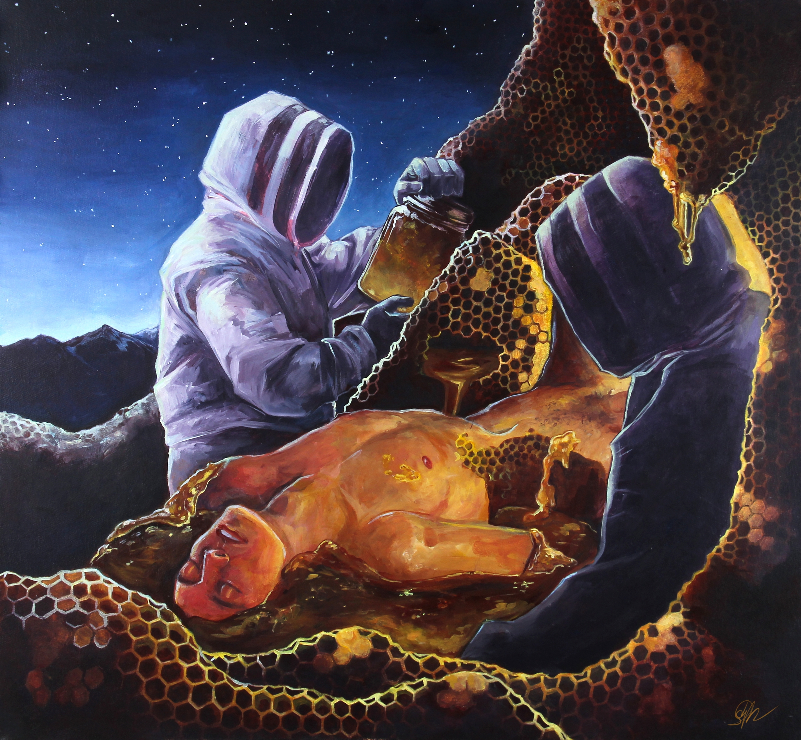 Golden Age (2014) Acrylic canva - beeofnycteris | ello