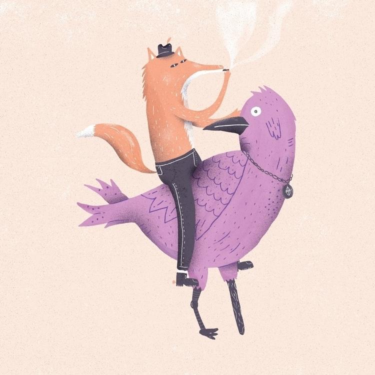 fox bird - characterdesign, design - rfortes | ello