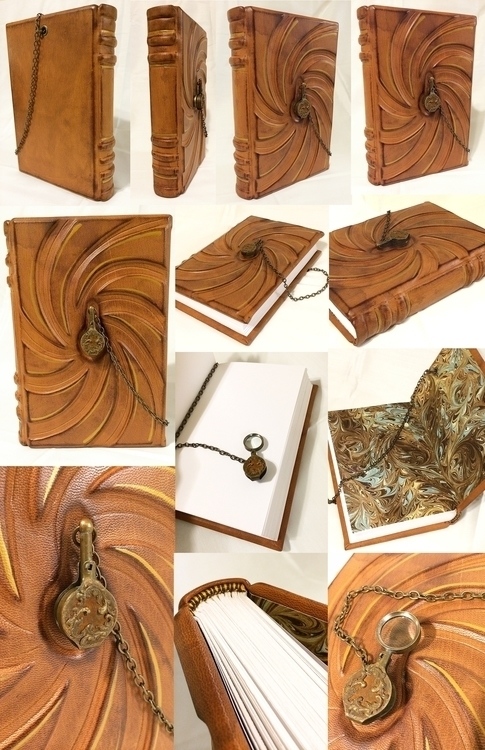 bookbinding, leatherjournal, leatherbook - bccreativity | ello