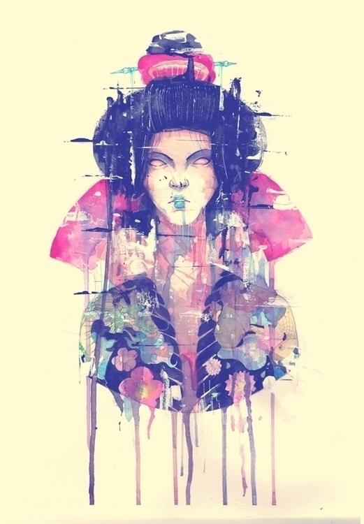 acrylic paper 2014 - illustrator - iannocent | ello