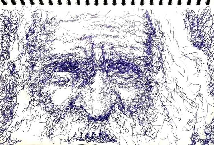Man - illustration, sketch, sketchbook - quimmoya | ello