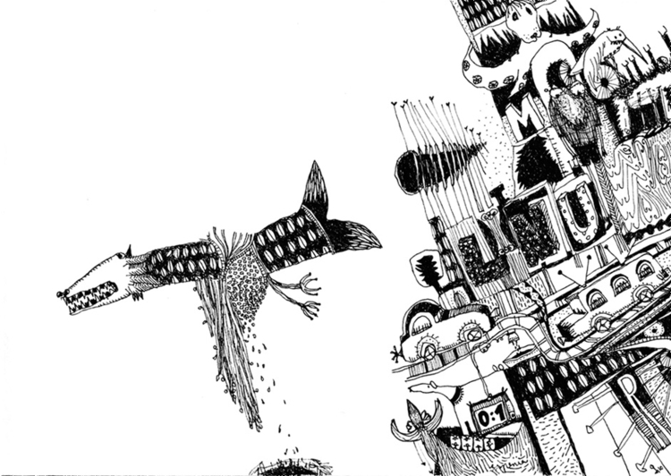 illustration, blackandwhite, creatures - tychonikum | ello