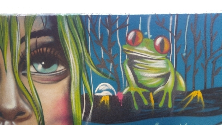 bemused frog - illustration, graffiti - jortiz-9644 | ello
