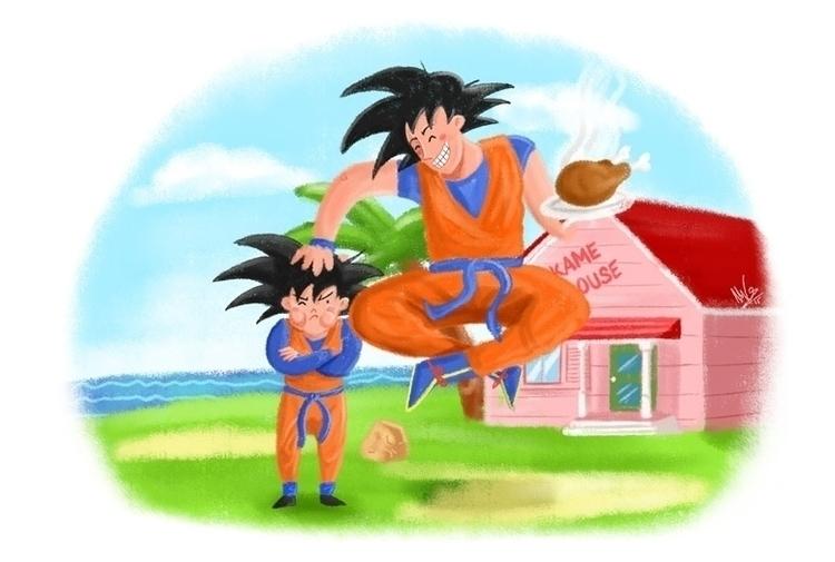 DBZ - Goku Goten - dbz, dragonball - margom | ello