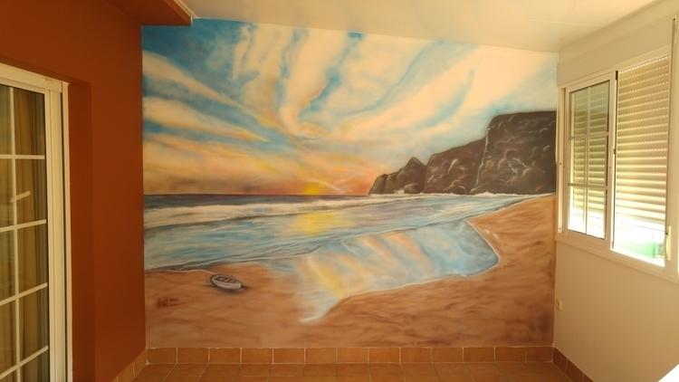sunset island - illustration, landscape - jortiz-9644   ello