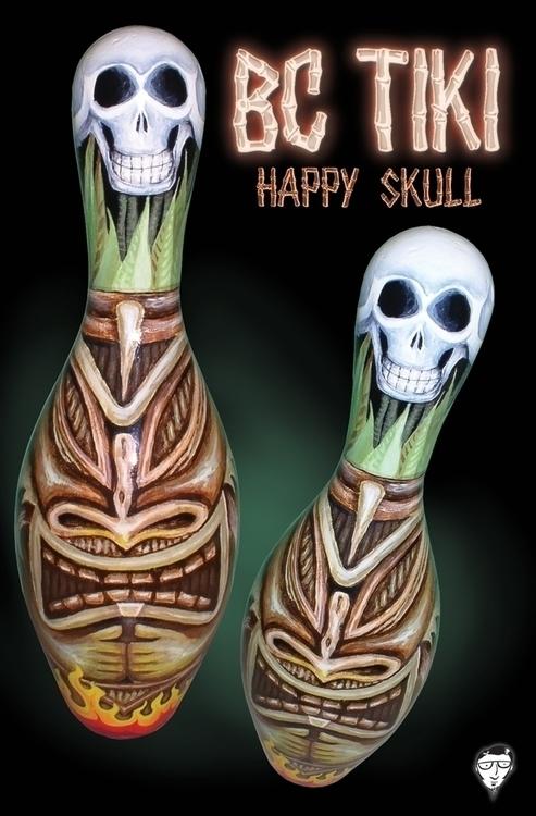 tiki, skull, happyskull - bccreativity | ello
