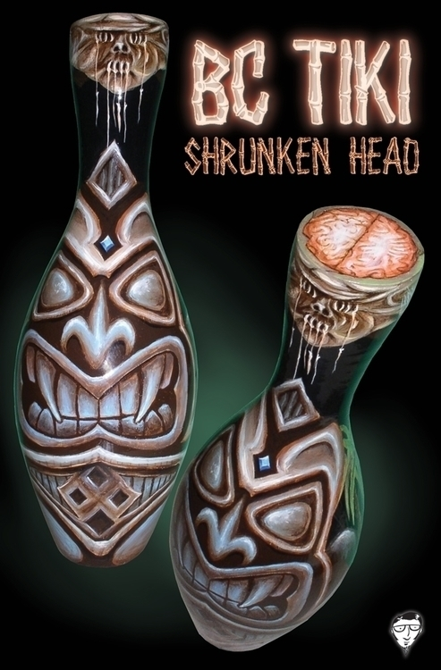 tiki, shrunkenhead, bowlingpin - bccreativity | ello