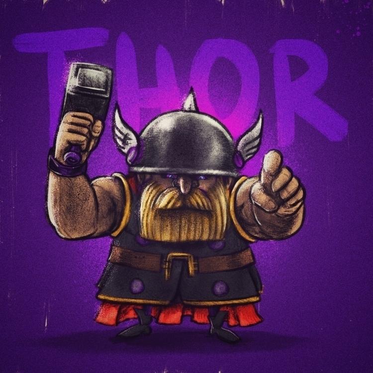 Thor - thealmightythor, marvel, marvelcomics - jaakkomehtala | ello