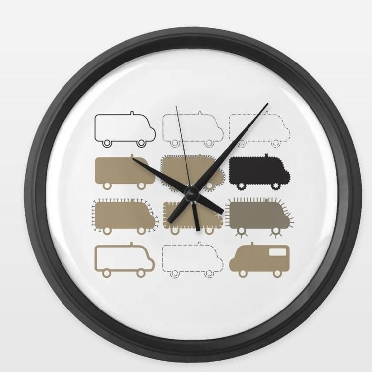 SOS vans wall clocks, created G - grabatdot   ello