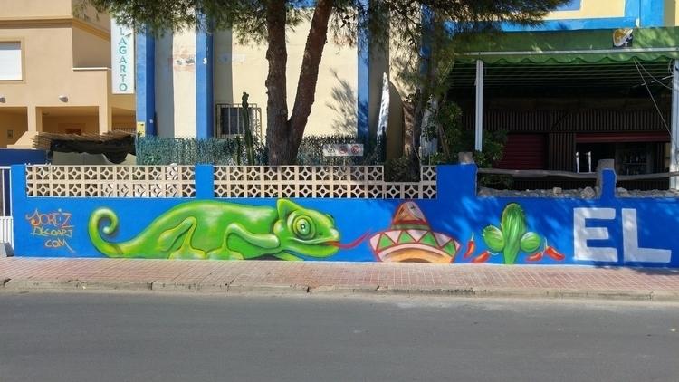 El lagarto - streetart, urbanart - jortiz-9644 | ello