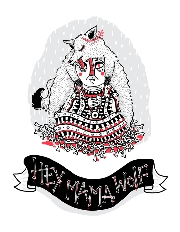 Mama wolf - characterdesign, devendrabanhart - sonialazo | ello