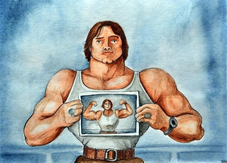 Arnold Schwarzenegger, Elliott  - fede-1364 | ello