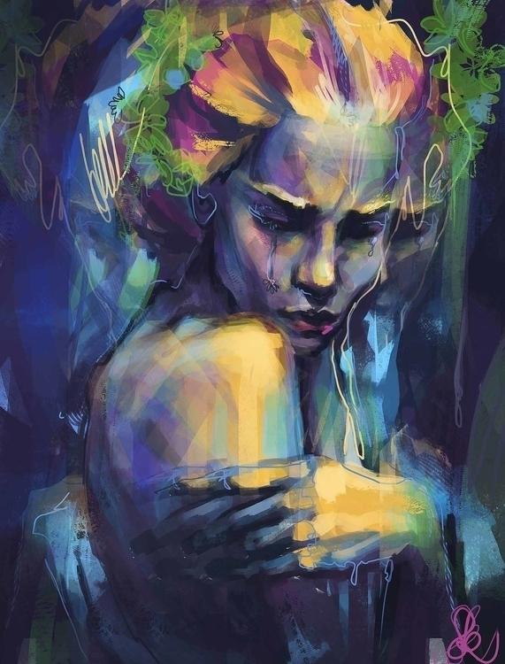 hiding anymore - painting, digitalart - sandraknego   ello